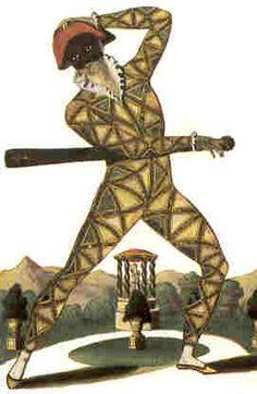 Commedia dell'arte: (Top) Arlecchino, the original Italian version of Harlequin in 1671