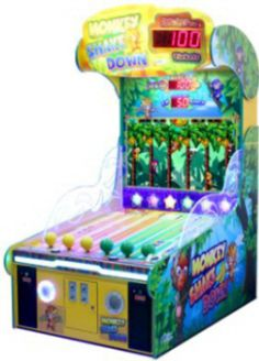 Monkey Shakedown Arcade Redemption Game | From Universal Space |   Get more information about this game at: http://www.bmigaming.com/games-catalog-unis-universal-space.htm