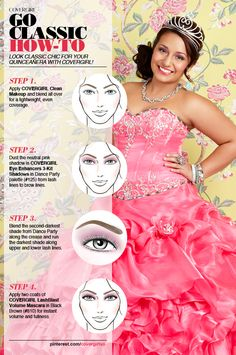 Look classic chic for your Quinceañera with COVERGIRL!