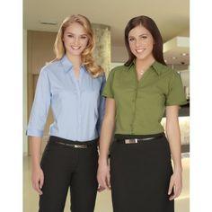 Ladies 3/4 Sleeve Metro Stretch Shirt