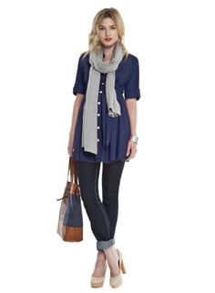 Cotton Summer Tunic | Maternity Top | Isabella Oliver. Looks good for fourth trimester too!