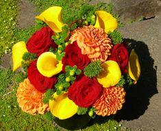 Tropical Wedding Bouquets, Wedding Flowers, Rasta Wedding, Orange Yellow Weddings, Red Green Yellow, Bridezilla, Calla Lily, Bridesmaid Bouquet, Green Wedding