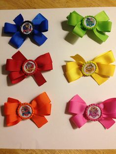 Paw Patrol Hair Bows by ShelbysSassyBowtique on Etsy