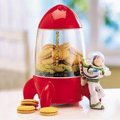 Disney Store Pixar Toy Story Buzz Lightyear Aliens Space Crane Cookie Jar   eBay