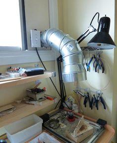 Excellent compared soldering diy Try it today Workshop Studio, Studio Setup, Working Area, Metal Working, Studio Organization, Shop Organisation, Hobby Room, Jewelry Tools, Soldering Jewelry