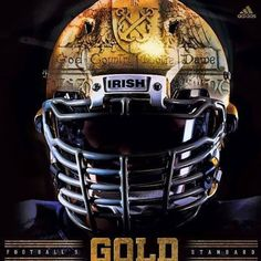 rendition of the Notre Dame football helmet