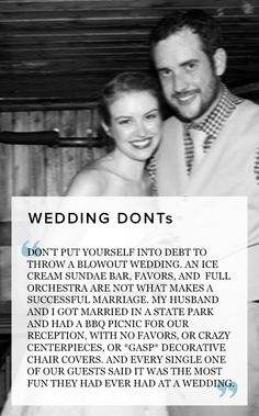 Important wedding DOs & DONTs from real brides