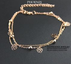 e5926586559a5 HEB049 Daisy Flowers Multilayer Rose gold Plated Charm Bracelets for women  Fashion Trendy Jewellery Accessory Dropshipping-in Charm Bracelets from  Jewelry ...