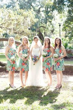 Floral Bridesmaid Dresses