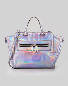 Hologram Demi Tote Bag, Silver by Milly at Neiman Marcus. one of the most holographic bags ive ever seen