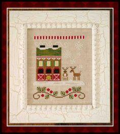 Reindeer stables . 6ª Gráfico de la colección Sant'as Village de Country Cottage Needleworks en www.lacasinaroja.com