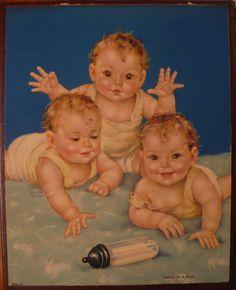 Tripletts! ~ Charlotte Becker, ca. 1940s