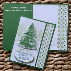 Holiday cards handmade - August's Holiday Card Club – Holiday cards handmade Homemade Christmas Cards, Christmas Tree Cards, Stampin Up Christmas, Xmas Cards, Handmade Christmas, Holiday Cards, Fun Cards, Craft Cards, Holiday Tree