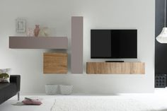 composition murale malaga imitation ch ne gris et gris fonc mat salon pinterest grande. Black Bedroom Furniture Sets. Home Design Ideas