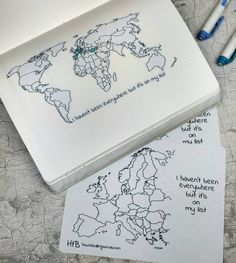 New Zealand is there! Yesterday I forgot to paste it in my notebook. We also added Europe's map sticker and printable in the shop! Go to etsy.com/shop/howtobulletjournal and don't forget that 10% off