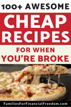 100 Cheap Meals--Find more than 100 ideas for cheap meals for a tight budget. Find ideas for cheap breakfasts, cheap lunches, and cheap dinner ideas. These cheap recipes are perfect for when you are broke and have no money! Frugal Meals, Budget Meals, Easy Meals, Frugal Recipes, Budget Lunches, Planning Budget, Meal Planning, Cheap Dinners, Cheap Meals For 4