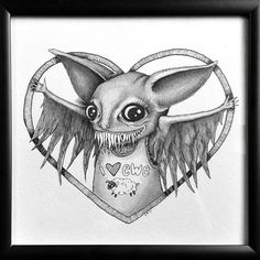 Drawing for Copycat Violence art auction - Kristen Ferrell