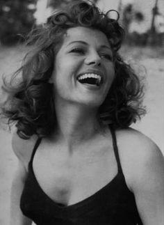 Rita Hayworth. Eva Mendes should play her in a biopic