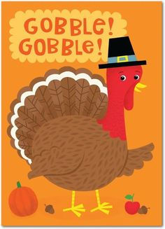 Pilgrim and Poultry - Happy Thanksgiving Greeting Cards from Treat.com