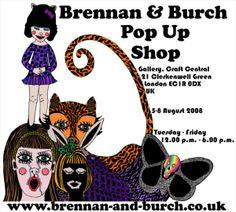 Brennan & Burch Pop up shop advert