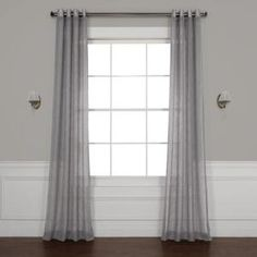 Exclusive Fabrics & Furnishings Gravel Grey Solid Rod Pocket Sheer Curtain - 50 in. W x 108 in. L-SHCH-SS071617-108 - The Home Depot Sheer Linen Curtains, Sheer Curtain Panels, Grommet Curtains, Drapes Curtains, Classic Curtains, Laurel, Casual Decor, Decor Pillows, Colorful Curtains