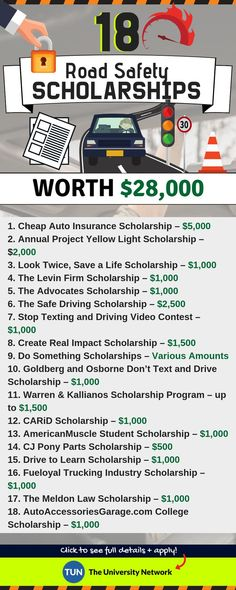 Whether you drive or not, we can all use more caution on the streets. The themes for all of the following scholarships are cars and safe driving! Offer your insight or creative solutions for a chance to win some scholarship money!