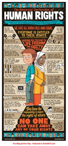 Human Rights and  Civil Rights poster design