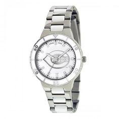 Women's Cincinnati Reds Pearl Stainless Steel Watch, Your Price: $64.99