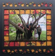 Step by Step Scrapbook Pages - Mosaic Moments Photo Collage System...Fall Theme