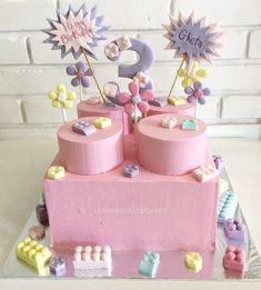 Pink lego cake