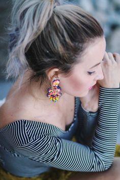 JCcrew colored earrings