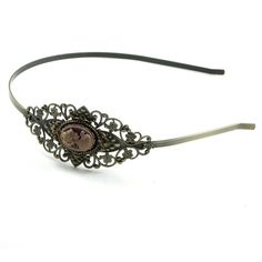 Neo Victorian Headband with Shimmering Rose by ghostlovejewelry, $18.00