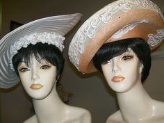2 Vintage Ladies Dress Church Wedding Derby Tea Hat Lot Bellini Mr John | eBay Vintage Tea, Vintage Ladies, Tea Hats, Philip Treacy, Wearing A Hat, Love Hat, Church Wedding, Bellini, Head Wraps