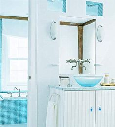 aqua bathroom
