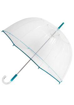 Un-teal the Clouds Clear Umbrella, #ModCloth