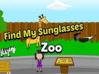 I have short term memory loss and always lose things. This time I lost my sunglasses at the zoo. Please help me find them!