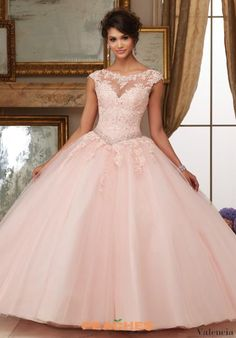 Valencia by Vizcaya Lace Ball Gown 60006