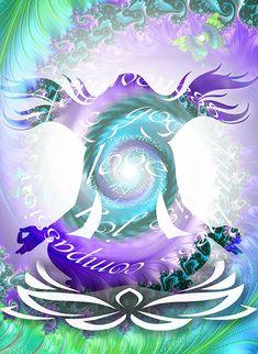 Meditation print positive art print fractal by theartofthematrix