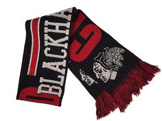 Wear this reversable scarf all winter long as you cheer on the #Blackhawks!