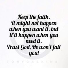 Keep God first
