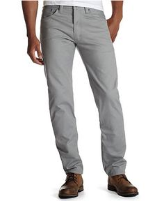 Levi's Jeans, 508 Regular Taper Brushed Twill, Neutral Grey - Mens Jeans - Macy's