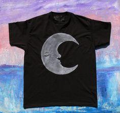 Handgemalt mit original Design!  T-Shirt gemalt ist Frucht der Loom T-shirt 100 % Baumwolle. Paint verwendet ist heiß versiegelt Stoff malen, T-shirt