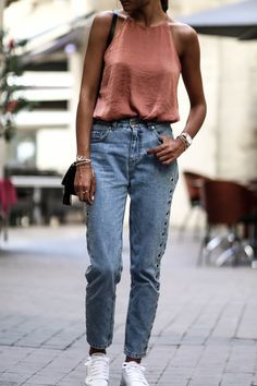 blog mode look jean mom