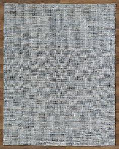 Zigzag Weathered Denim Rug