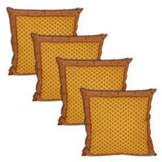Asian Décor Home Silk Pillowcases Artisan Crafted Set of 4 Pcs. Sofa Cushion Covers, Throw Pillow Covers, Throw Pillows, Asian Decor, Pillowcases, Pattern Fashion, Artisan, Cushions, Fancy
