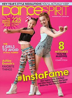 Sophia Lucia and Ashi Ross on the January 2014 cover (photo by Erin Baiano)