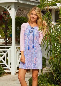cc65879bfb Cabana Life Marrakesh Market Front-Tie Cover Up, with 50+ UV Protection Sun