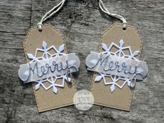 Merry snowflake tags - September Ninth Designs