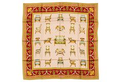 """Gucci 'Chairs' Scarf on OneKingsLane.com 