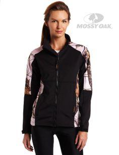 Mossy Oak Pink Break-Up Windproof Fleece Jacket from Yukon Gear